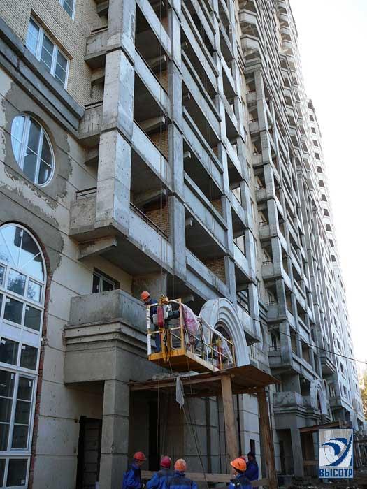Декоративная покраска фасада с фото